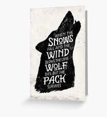 House Stark  Greeting Card