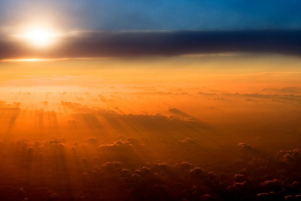 Dusk above the Clouds by Peter Ede