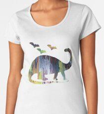 Brontosaurus and bats Women's Premium T-Shirt