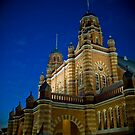 Old Queensland Museum at Night by Mark Greenmantle