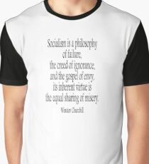 CHURCHILL, Politics, Socialism is a philosophy of failure, Labour Party, Sir Winston Churchill,  Graphic T-Shirt