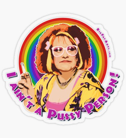 Pussy Person Transparent Sticker