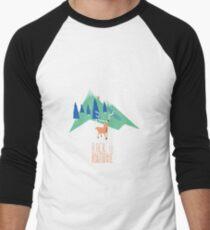 Back to nature T-shirt baseball manches ¾