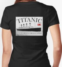 TITANIC, RMS Titanic, Cruise, Ship, Disaster Women's Fitted V-Neck T-Shirt