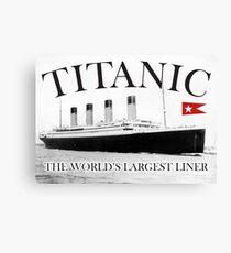 TITANIC, RMS Titanic, Cruise, Ship, Disaster Canvas Print