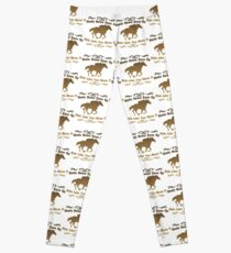 Horse Funny Design - Heels Down Eyes Up Ride Like You Mean It Leggings