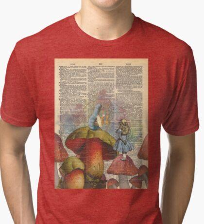 Alicia en el país de las maravillas - La oruga de fumar narguile Camiseta de tejido mixto