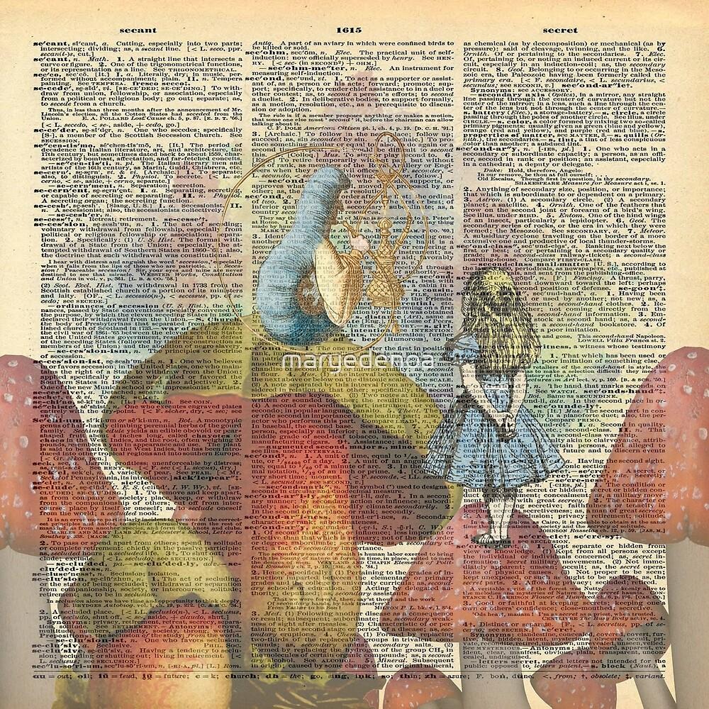 «Alicia en el país de las maravillas - La oruga de fumar narguile» de maryedenoa