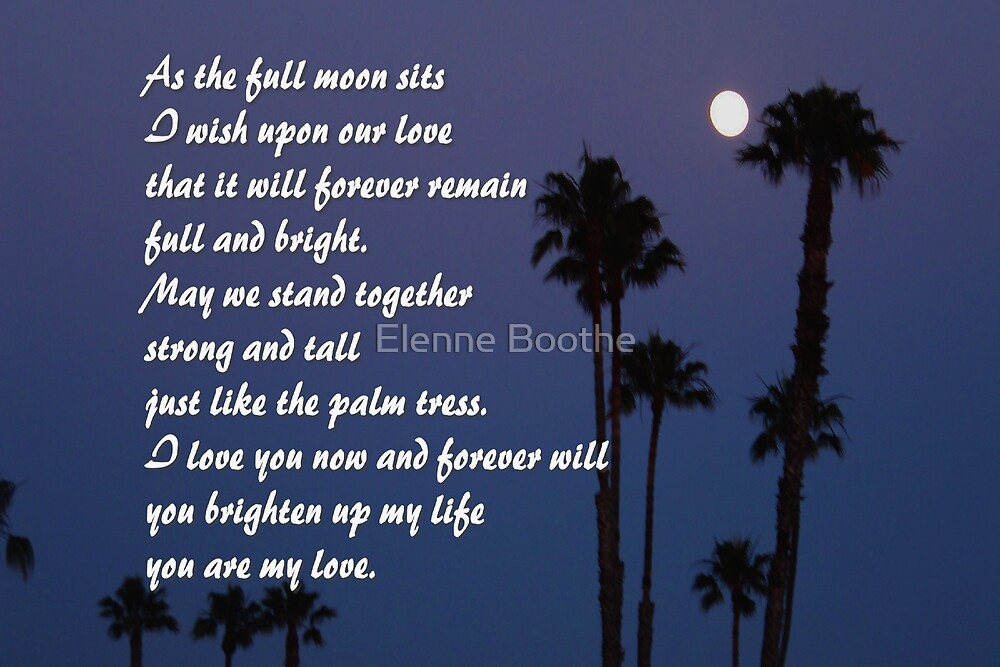 Shoot for The moon by Elenne Boothe