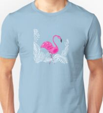 Pink flamingo with ornements Unisex T-Shirt