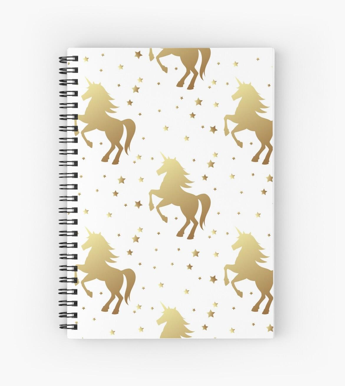 Cuadernos de espiral «Unicornio silueta vector patrón sin costuras ...