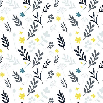 Floral Pattern 1 - Blue by pauladolz