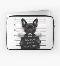 Funny French Bulldog Mugshot T-Shirt Laptop Sleeve
