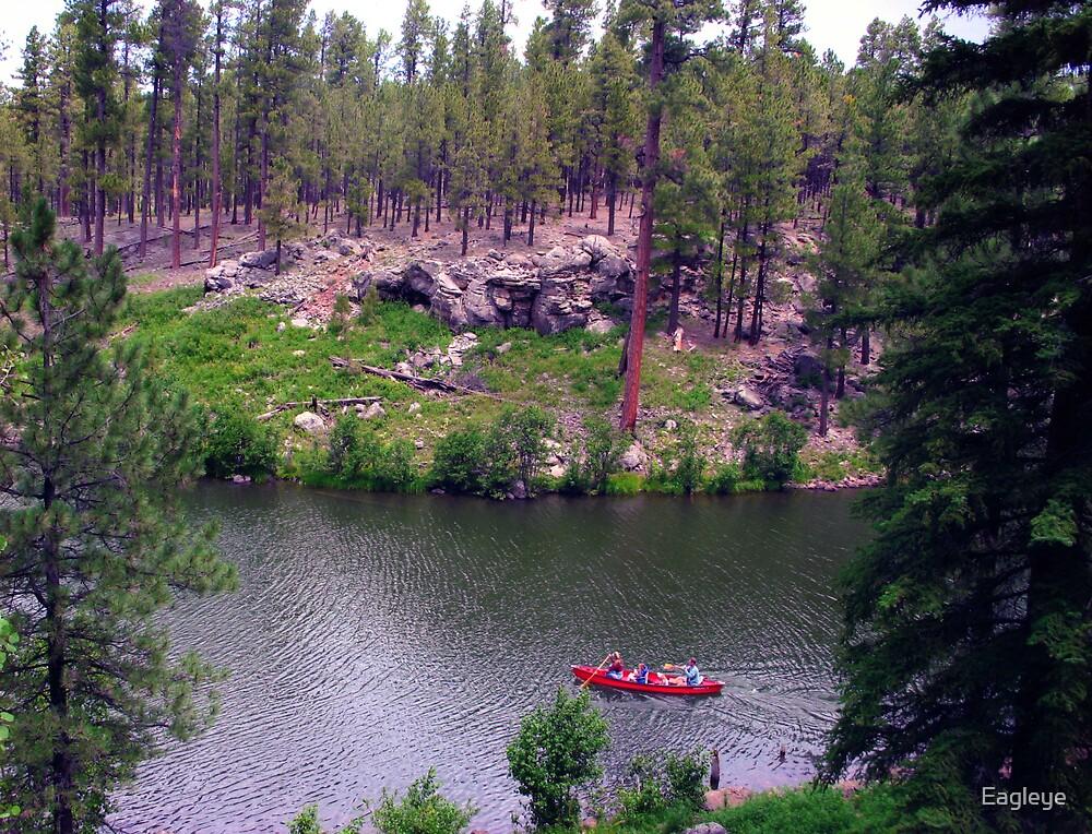 Red Boat on Little Bear Lake by Eagleye