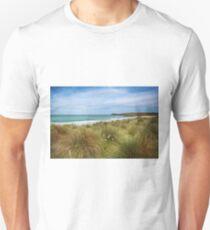 Sand dunes and marram grass Constantine bay - Cornwall Unisex T-Shirt