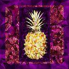 Posh Pineapple on Purple by Dana Roper