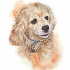 cocker spaniel watercolor by Mike Theuer