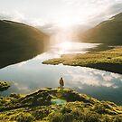 Switzerland Mountain Lake Sunrise - Landscape Photography by Michael Schauer