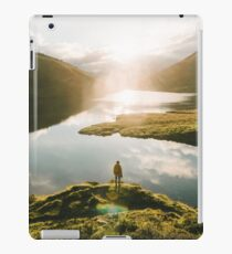 Switzerland Mountain Lake Sunrise - Landscape Photography iPad Case/Skin