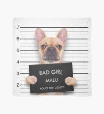 Funny Bulldog Mugshot Scarf