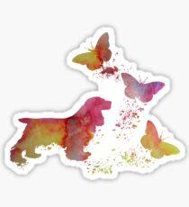 Cocker spaniel and butterflies Sticker
