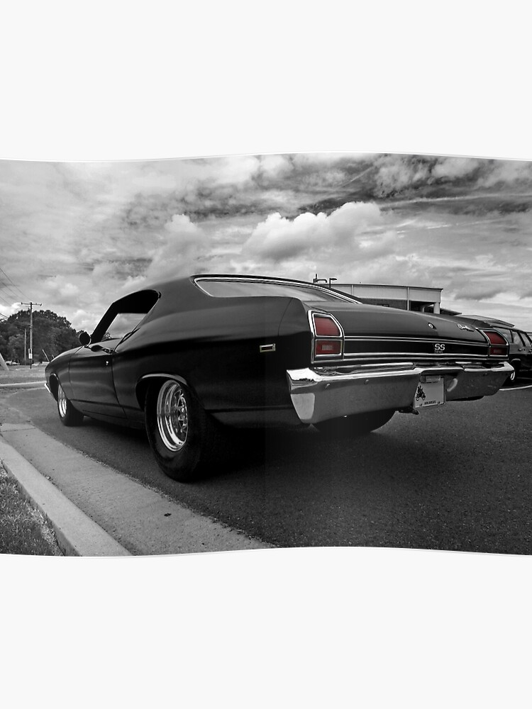 1969 Chevy Chevelle SS b&w(-ish) | Poster