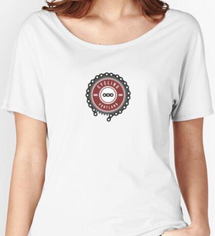 Cycling Portland Logo Women's Relaxed Fit T-Shirt