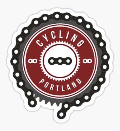 Cycling Portland Logo Sticker