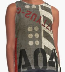 Abstract Industrial Art - Grey Stripes Contrast Tank