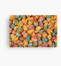 Fortune Cookies Dipped in Colorful Icing & Sprinkles Canvas Print