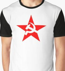 STAR, Red Star, Hammer and sickle, in five leg star. Communism, Russia Graphic T-Shirt