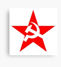 STAR, Red Star, Hammer and sickle, in five leg star. Communism, Russia Canvas Print