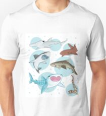 Bubbly Sharks Unisex T-Shirt