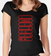 i intend to die tonite - nintendo Women's Fitted Scoop T-Shirt