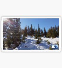 Snowy Scene 1 Sticker