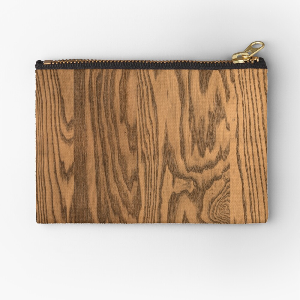 Wood 4 Zipper Pouch