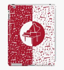 Red and white piano themed iPad Case/Skin