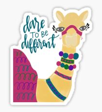 Dare to Be Different Camel  Sticker