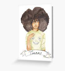 Tia | Black Princesses Greeting Card