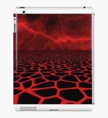computer generated lava field iPad Case/Skin
