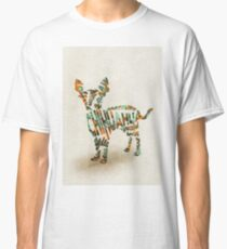 Chihuahua Typographic Watercolor Painting Classic T-Shirt