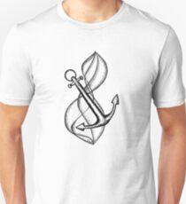 Wellen und Anker Design Unisex T-Shirt