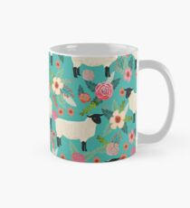 Sheep farm sanctuary florals pattern cute gifts for animal lovers Mug