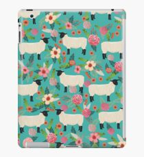 Sheep farm sanctuary florals pattern cute gifts for animal lovers iPad Case/Skin