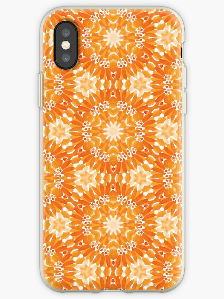 Marigold Kaleidoscope Peach Saddle and Burnt Sienna by SarahBe