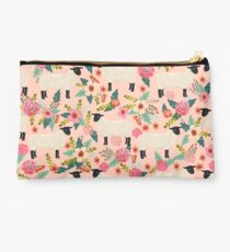 Sheep farm sanctuary florals pattern cute gifts for animal lovers Studio Pouch