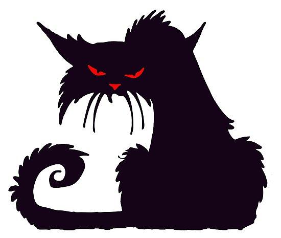 Cat Dessin Anime Chat Grincheux Amoureux Des Chats Silhouette