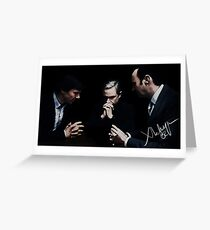 Sherlock, John and Mycroft Greeting Card