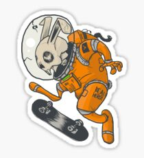 BE A HERO ! Space rabbit edition Sticker