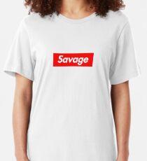 SAVAGE BOX LOGO - 21 Slim Fit T-Shirt